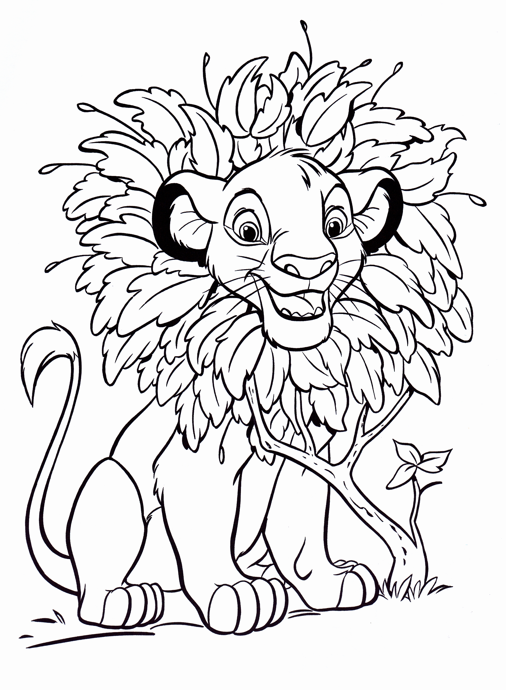 2096x2859 Coloring Pages Appealing Simba 17 The Lion King