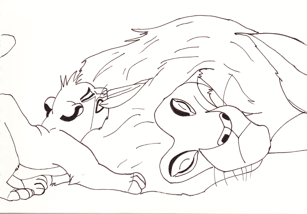 1024x716 Lion King Drawings Mufasa