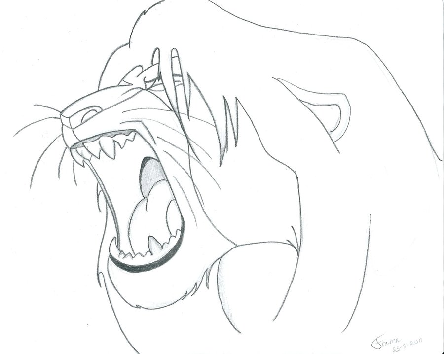 Lion King Drawing at GetDrawings.com | Free for personal use Lion ...