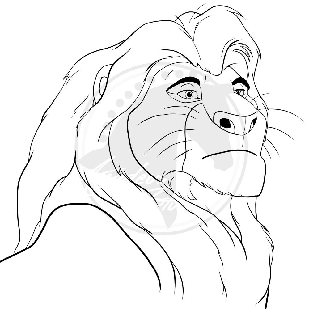 1000x1000 Mufasa The Lion King By Haidariadli