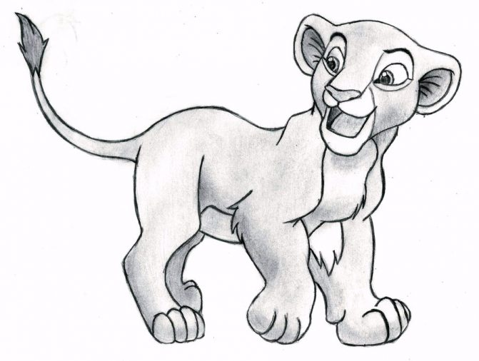 671x506 Simba Lion King Drawing Step By Step Tags The Lion King Drawing