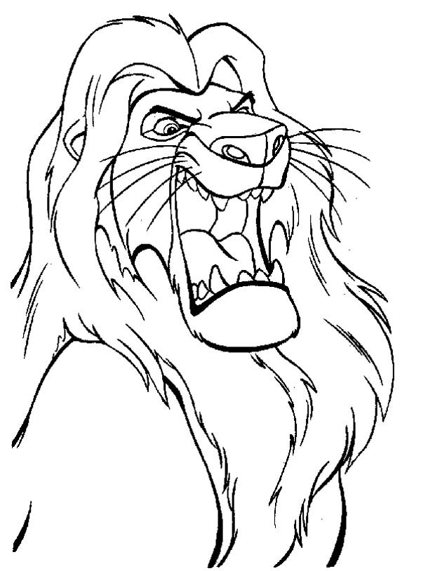 600x814 The Lion King Mufasa Is Angry Coloring Page Color Luna