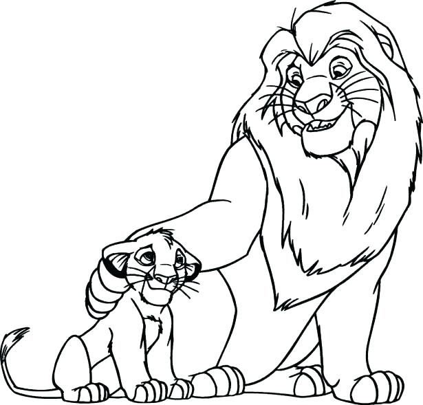 615x589 Coloring Picture Of Lion