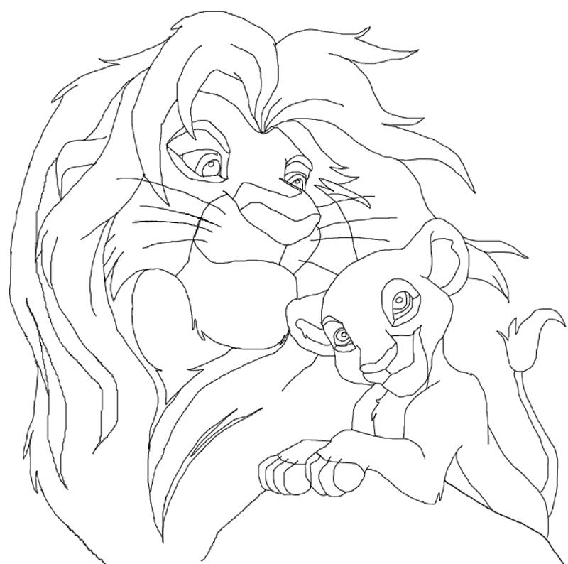 800x794 The Lion King Line Art By Bunyip Boy
