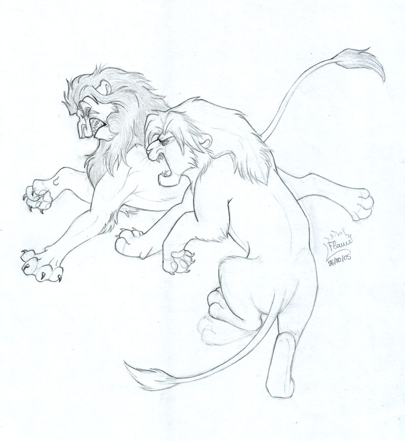 800x871 Simba Vs Scar By Dalamar89