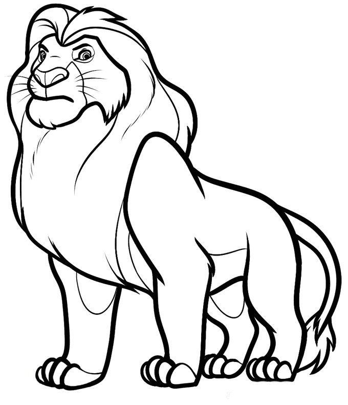 Coloring Pages Free Printable For Kids To Download 1 680x791 Simba Lion King Drawing