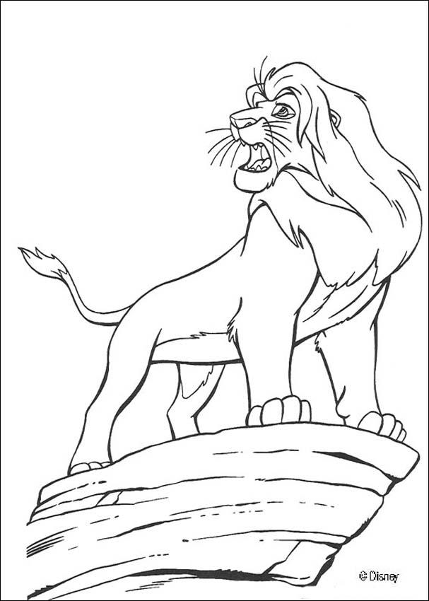 607x850 Mufasa The Lion King Coloring Pages
