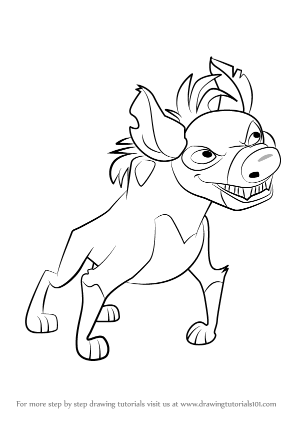 596x843 Learn How To Draw Cheezi From The Lion Guard (The Lion Guard) Step