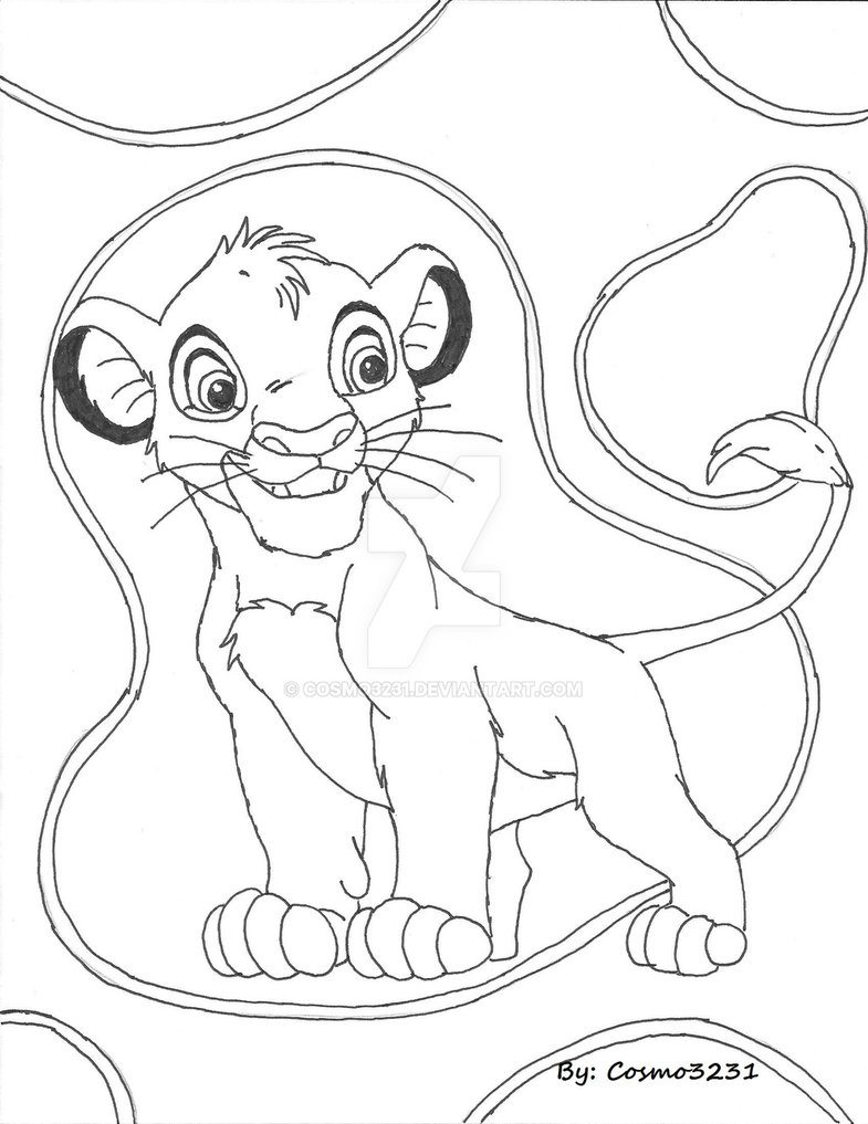 785x1017 Lion King Simba Rough Draft Sketch By Cosmo3231
