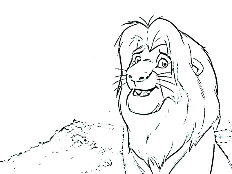 800x600 Simba Coloring Pages Lion King Cute Face Simba Coloring Pictures