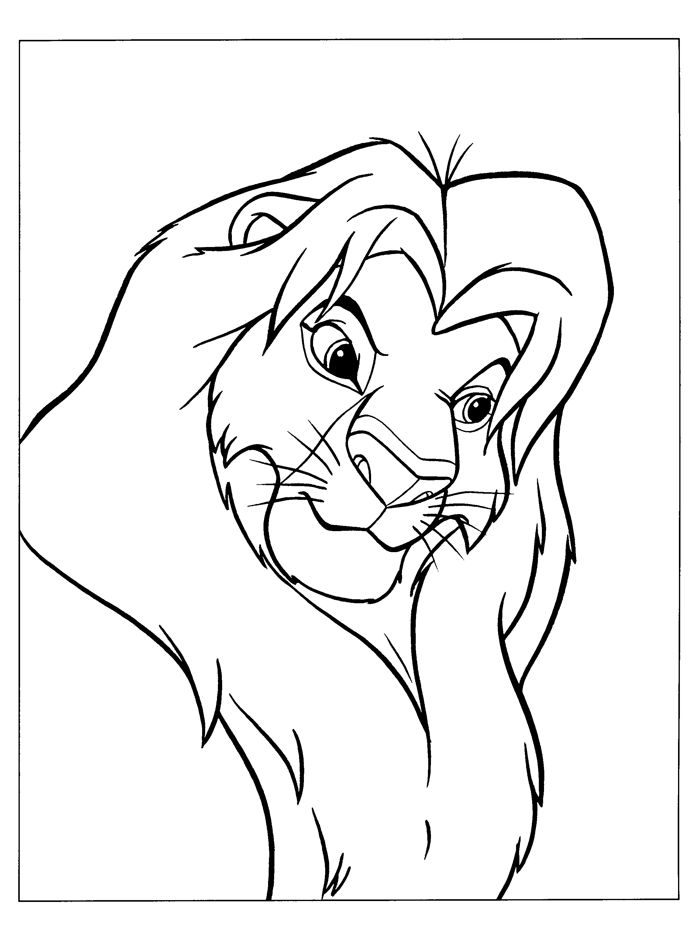 Lion King Simba Drawing at GetDrawings.com | Free for personal use ...
