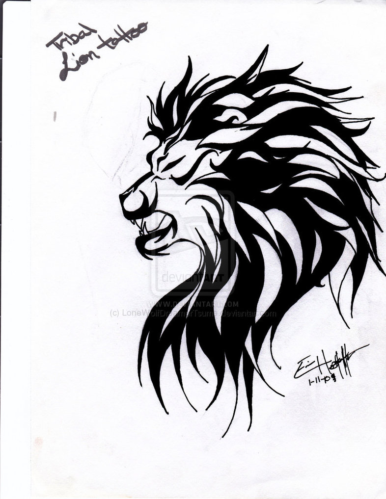 786x1017 Lion And Lamb Tattoo Designs On Stomach Photo