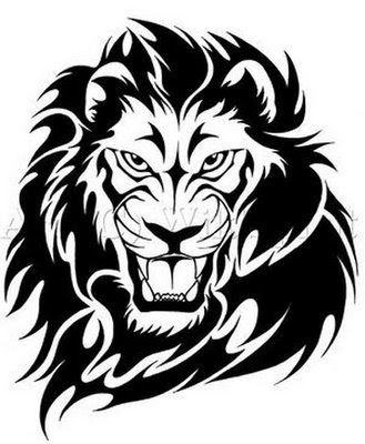 Lion Line Drawing