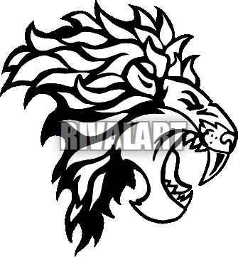 335x361 Lion Side View Clipart