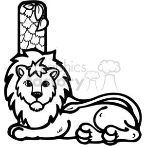 300x300 Royalty Free Letter L Lion 380229 Vector Clip Art Image