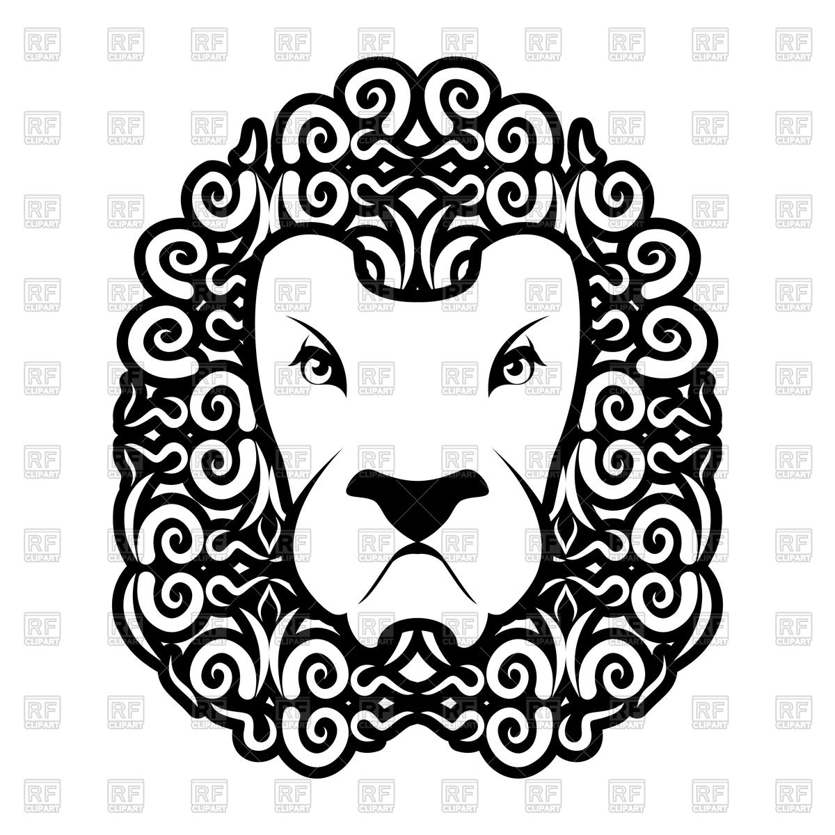 1200x1200 Lion Tattoo. Mane Ornament. Leo Tattooing. Wild Animal Royalty