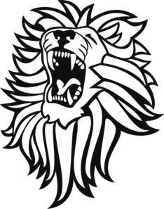 234x297 Lion Open Mouth Clipart