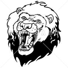 236x236 Mascot Clipart Image Of A Mean Pouncing Lion Lion Clip Art