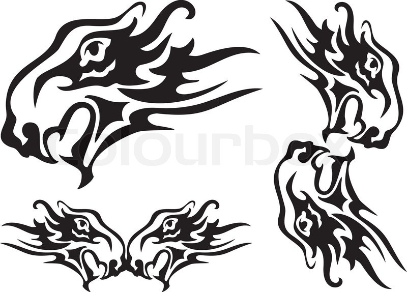 800x574 Tribal Lion Head With An Open Mouth Formed By A Bird The Phoenix