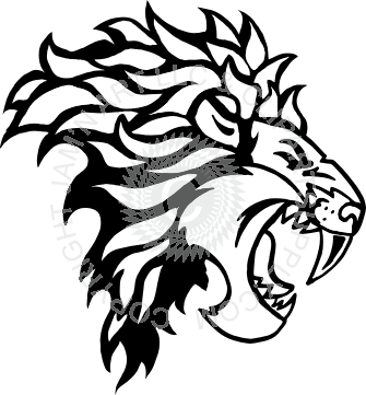 335x361 Lion Facing Right