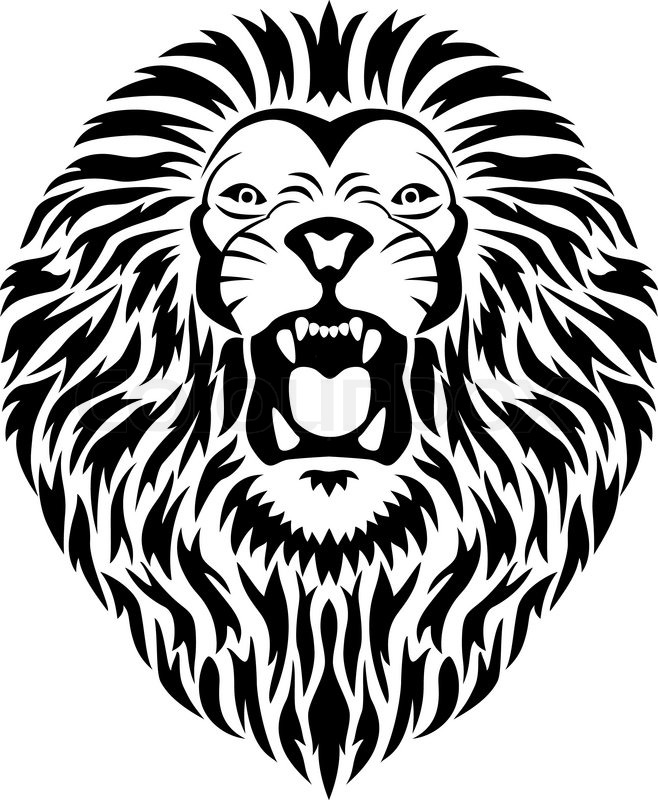 658x800 Lion Mouth Vector