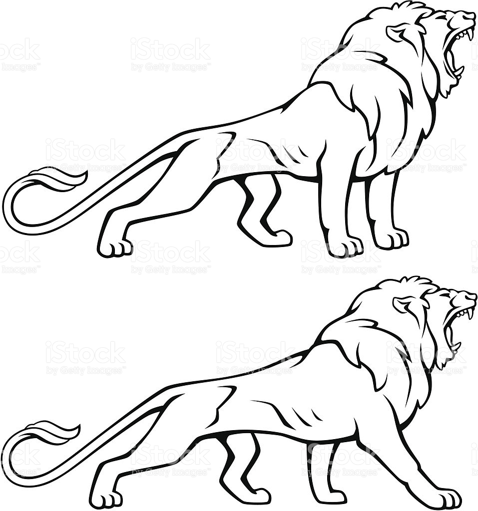 957x1024 Lion With Mouth Open Clipart