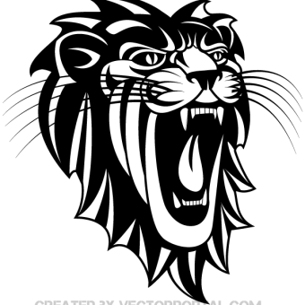 340x340 Lion Tattoo Free Vector 123freevectors