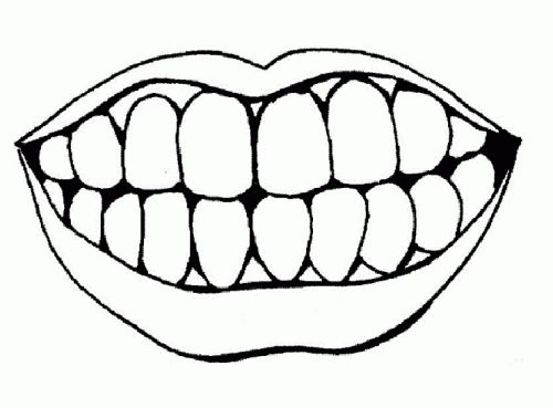 500x369 Open Mouth Clipart Black And White