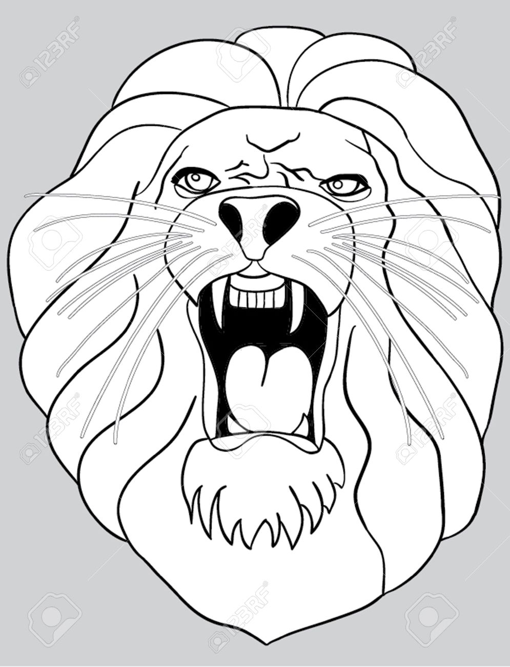 How To Draw A Cartoon Lion Mouth