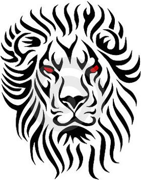 280x357 Lion Of Judah Black And White Tattoo