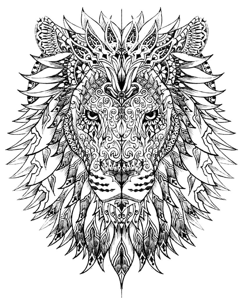 836x1024 Adult Coloring Lion Judah Lion King Coloring Pages For Adults
