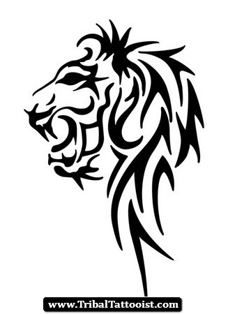 327x450 Lion Of Judah Tribal Tattoo Lion Outline Tattoo Signs