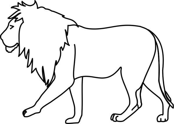 600x429 Lion Line Art Free Vector In Open Office Drawing Svg ( Svg