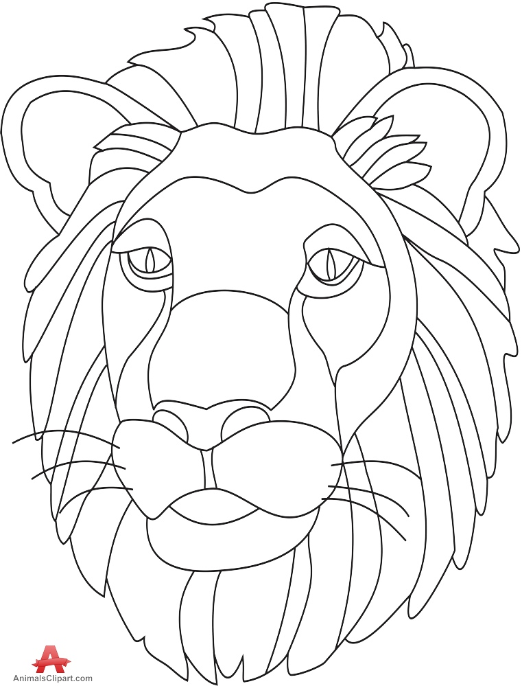 761x999 Lion Outline Drawing Free Clipart Design Download
