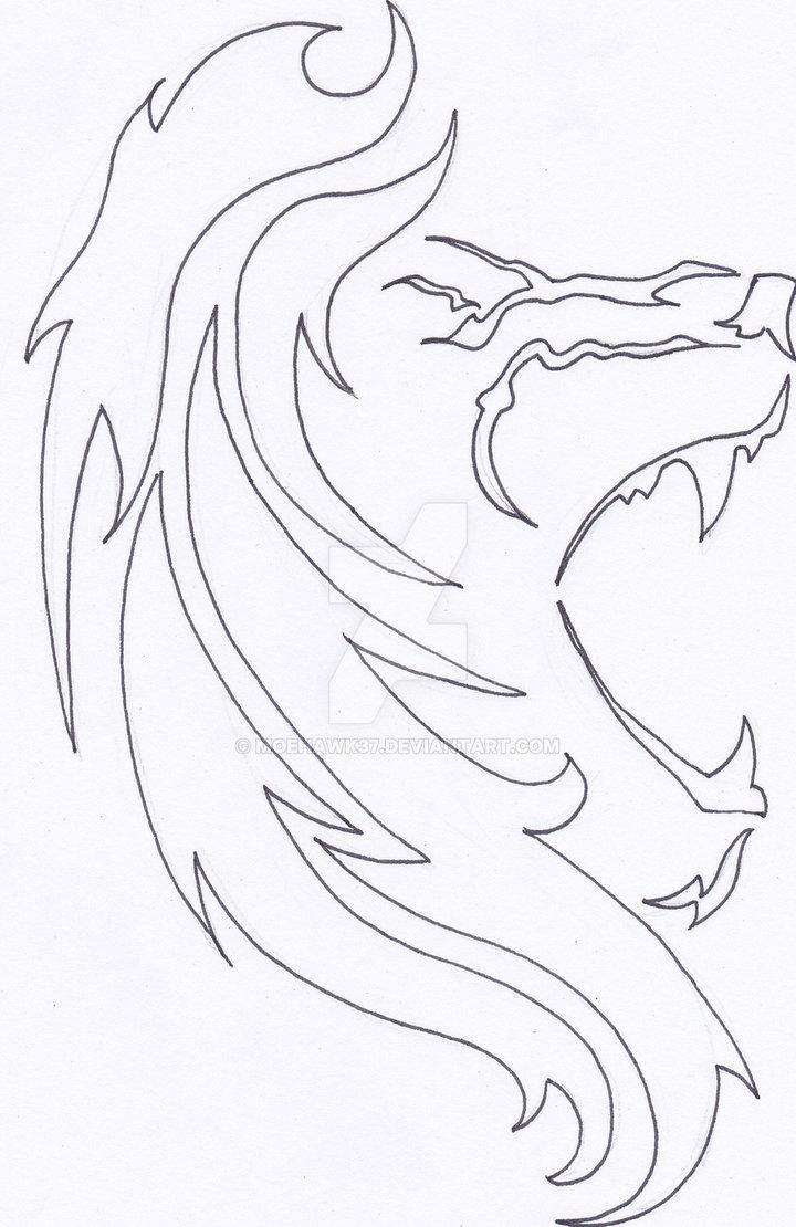 720x1110 Lion Tattoo Outline By Moehawk37