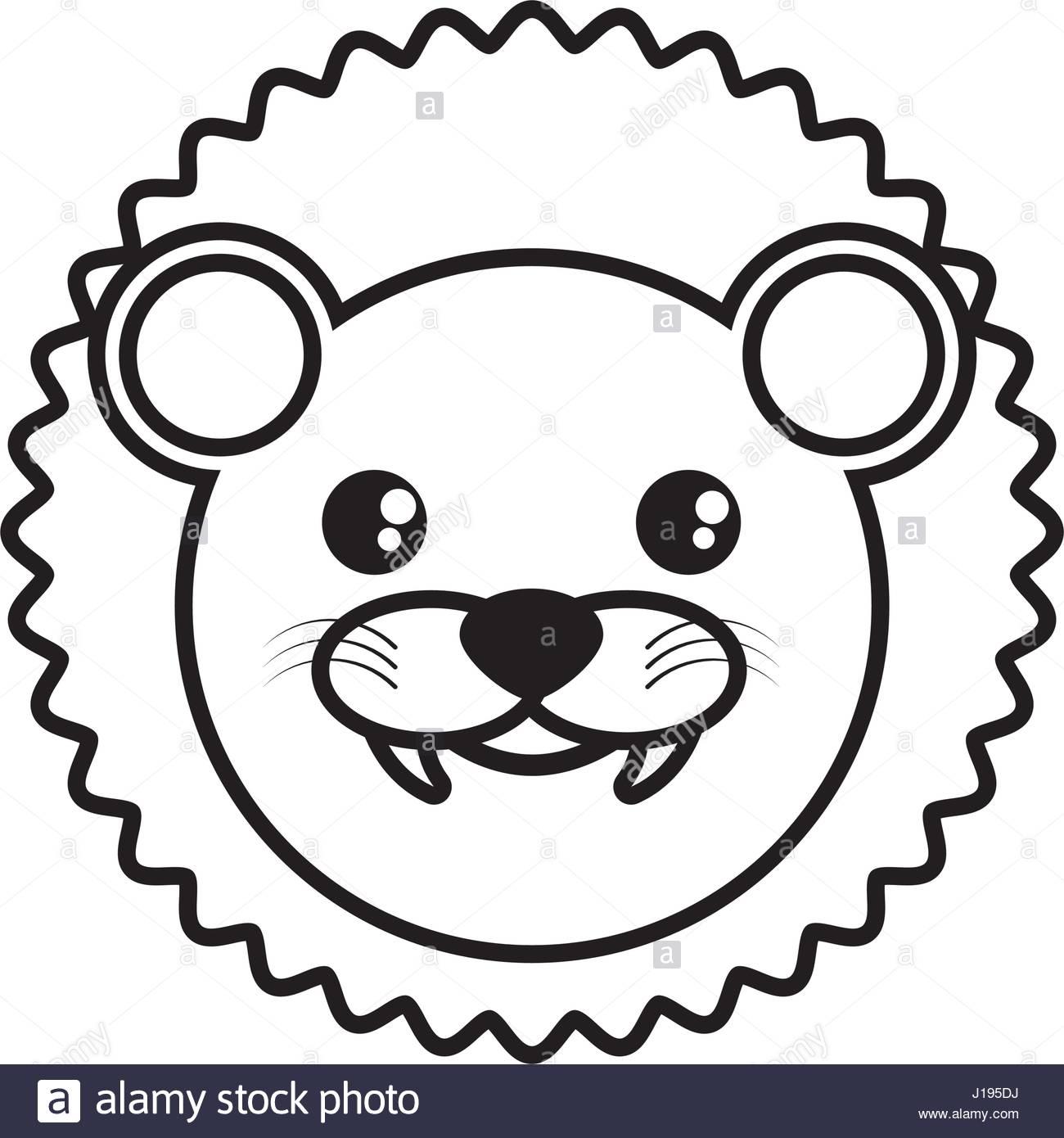 1300x1390 Face Lion Animal Outline Stock Vector Art Amp Illustration, Vector