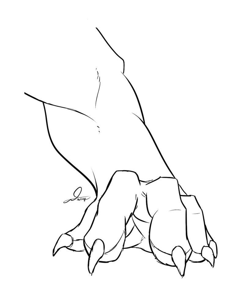814x982 Humanoid Lion Paw By Humanoidguy