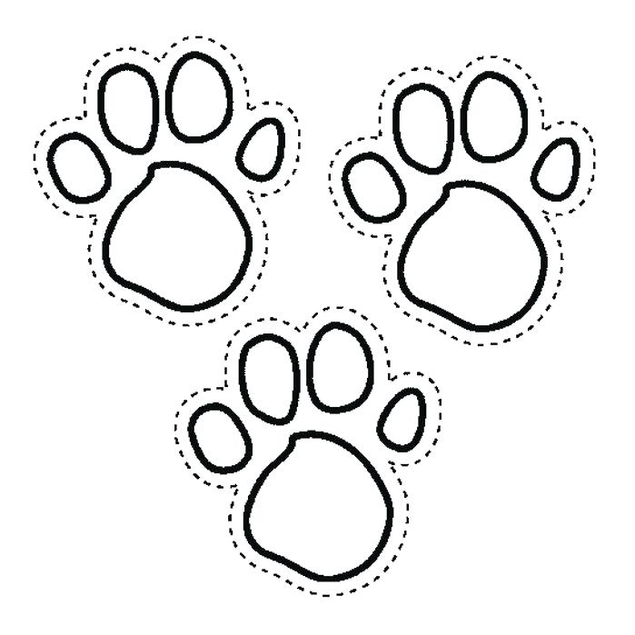 699x699 Paw Print Coloring Page Paw Print With Lion Coloring Pages Vector