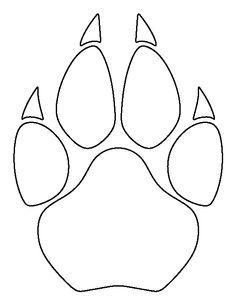 236x305 Cougar Paw Print Pattern. Use The Printable Outline For Crafts