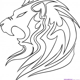 320x320 How To Draw A Tribal Lion Step By Art Pop Culture Free Animal
