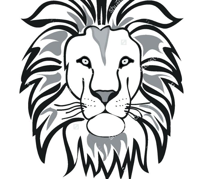 678x600 Lion Drawing Outline Outline Of Lion Lion Outline Vector Isolated