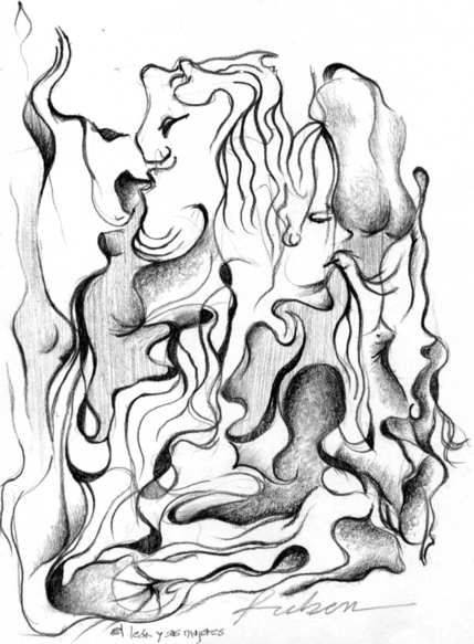 429x583 The Lion And His Women Drawings