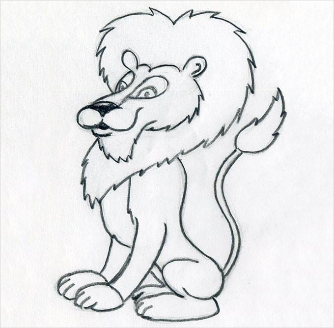 Lion Portrait Drawing