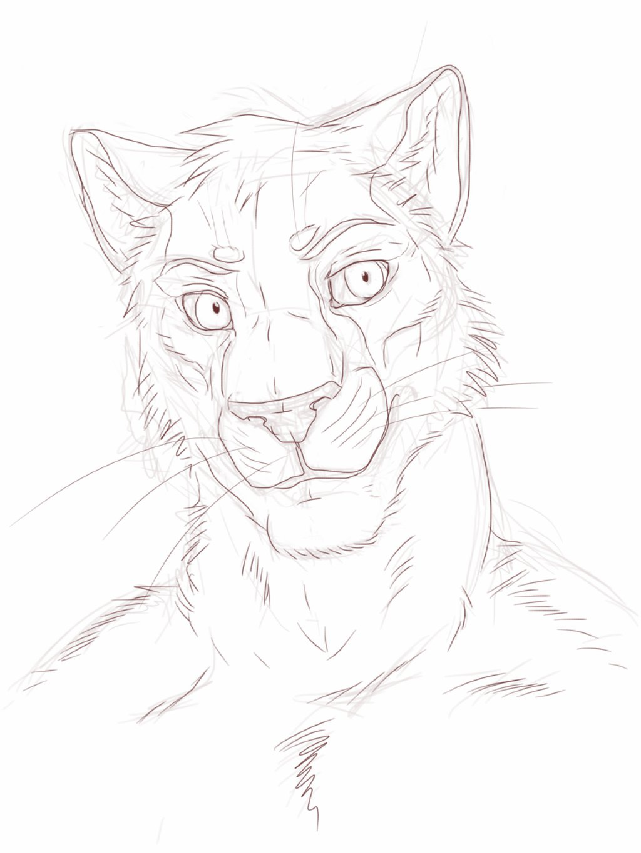 1024x1365 Random Furry Lion Portrait By El Ricado