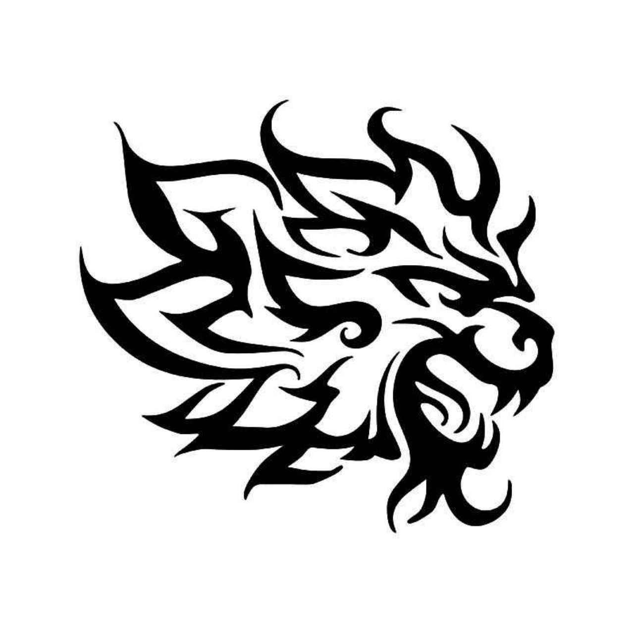 1280x1280 Tribal Lion Pride Animal Vinyl Decal Sticker Tribal Lion, Lion