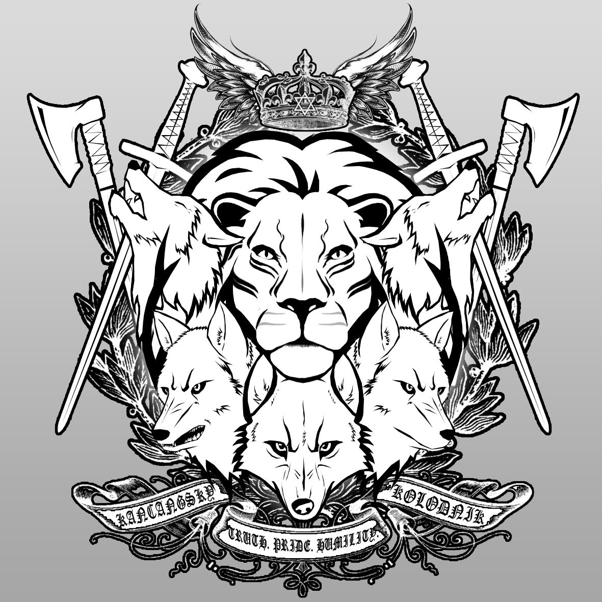 1181x1181 A Pride Of Wolves By Ghj