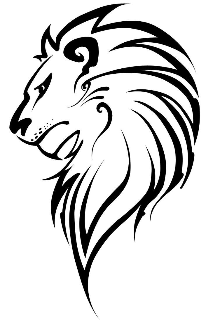 Lion Profile Drawing