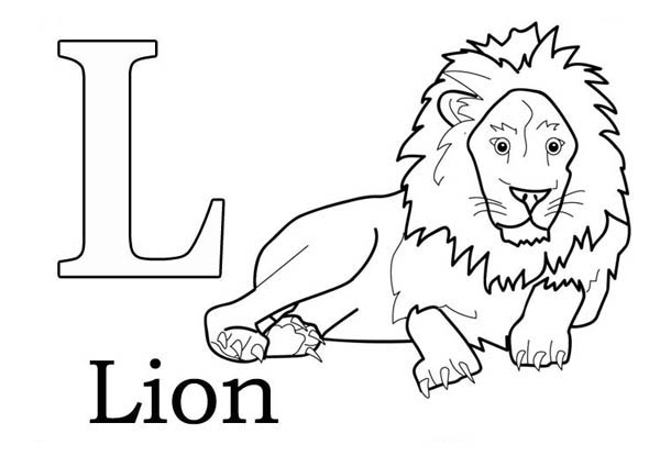 600x425 L For Lion Coloring Page Realistic Lion Coloring Pages