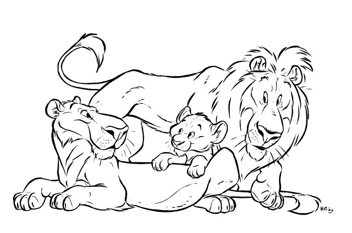 700x464 Lion Coloring Pages Lion Coloring Pages Realistic Kids Coloring