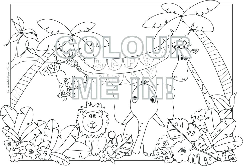 970x662 Safari Animal Coloring Pages Coloring Safari Animals Drawing